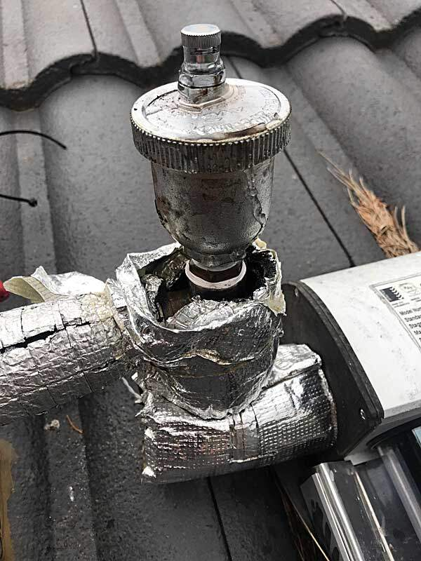 auto air bleed valve cracked