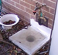 Over flowing sewer north Canberra