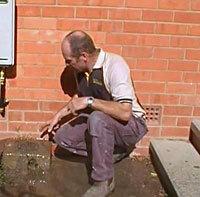 Overflowing sewer at the back door in Gungahlin