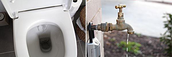 leaking toilets running taps