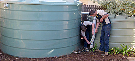 rain water tank installations