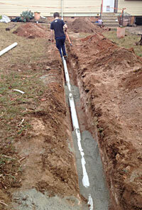 replacing a blocked drain in Queanbeyan