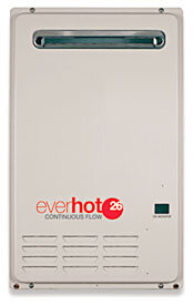 Everhot gas continuous flow hot water systems Canberra