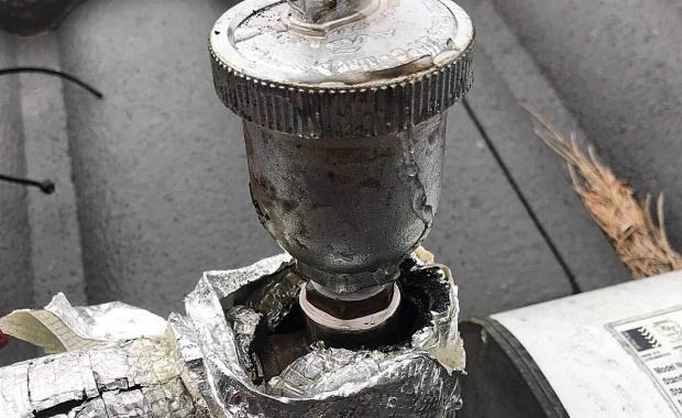 cracked auto air bleed valve