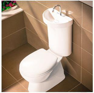 Caroma Basin intergrated into a toilet suite