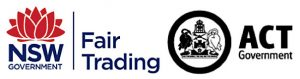 Fair trading ACT and NSW Governments