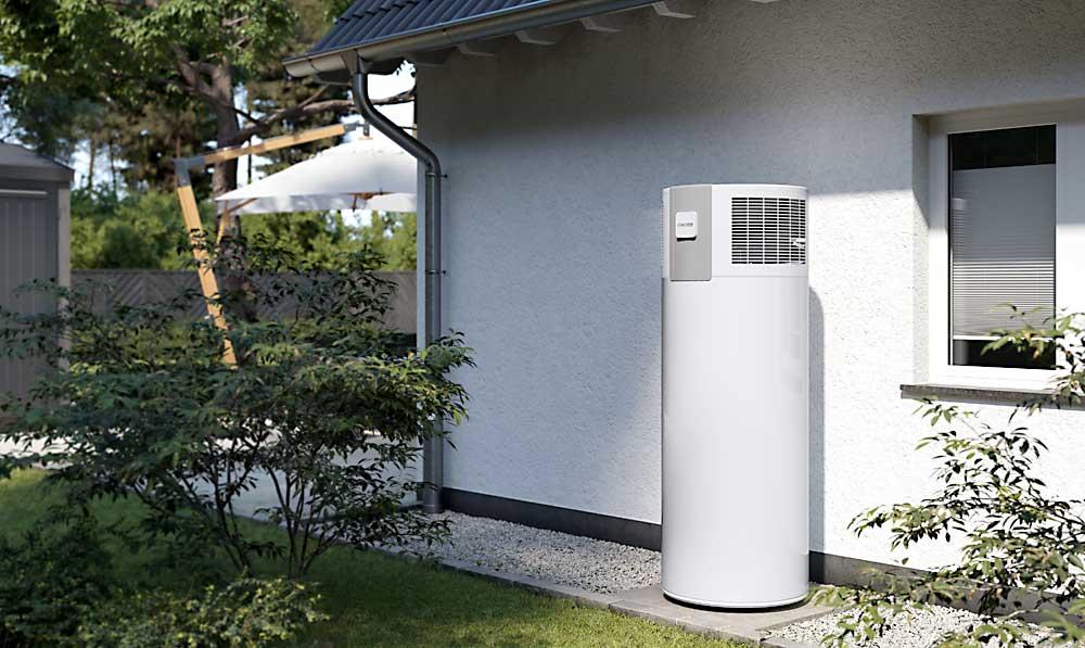 Stibel eltron hot water system heat pump installed